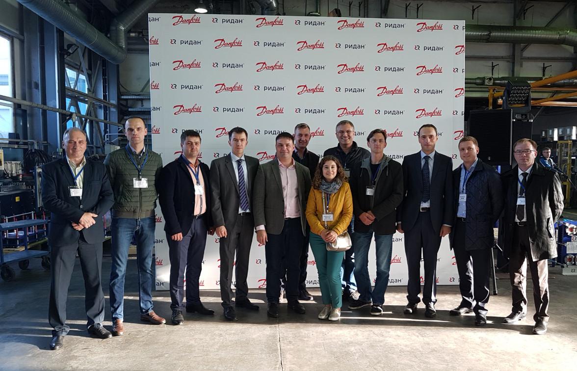 Компания ТеплоПрофи на открытии линии производства пластин заводом Ридан