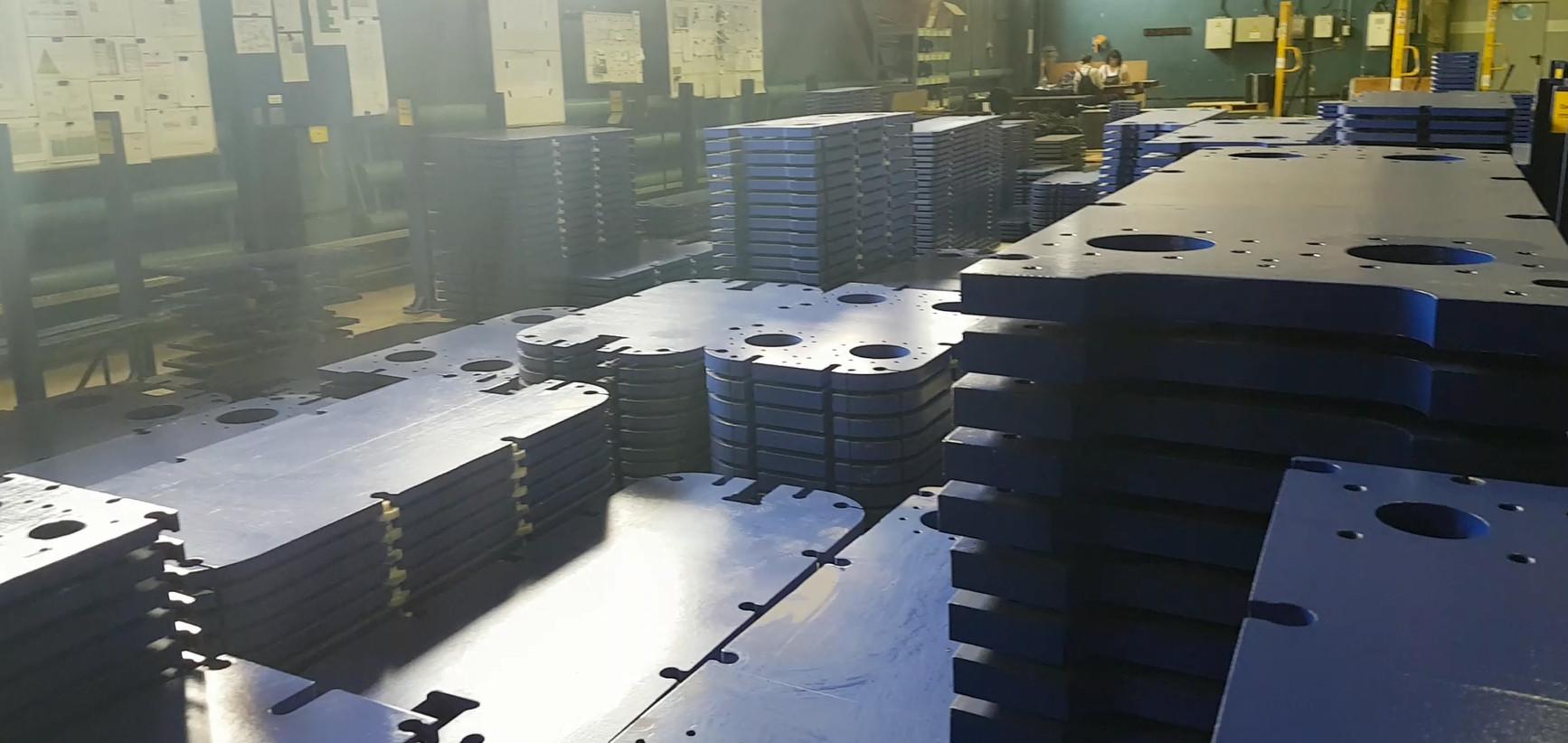 Производство заготовок прижимных плит